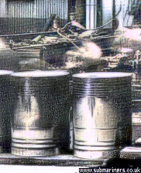 Pistons from the Port engine of HMS Clyde