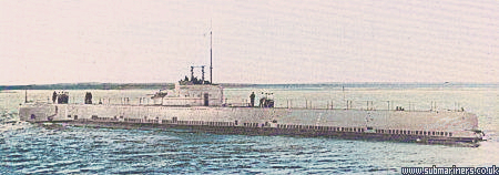 Rorqual, the only submarine of the class to survive World War II, She was taken out of service in 1946