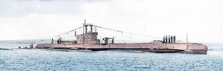 HMS Sirdar completed 1943. Seen with snort mast but no Oerlikon gun on bandstand. Apart from the post war snort mast, the arrangement has a post war look with the distinctive 'X' A.R.T forward & aft. The Christmas Tree D.F. antenna remain fitted. She still has her P226 pennant and this would indicate the photo was taken no later than 1946/47. The step stern means no external tube