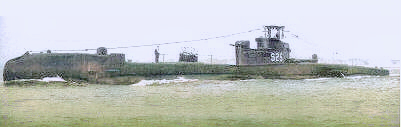 HMS Thule painted black with S25 pennant number (previously P325). The forward torpedo tubes have been removed as recoded in PoWV 1959. Additional dome forward.