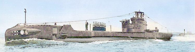 HMS Thule with fully shielded gun platform. 'Bandstand' removed & snort mast fitted. Mast can be seen folded down on the aft casing. The object sticking up above the snort head is the 138 ASDIC cover. She appears to be fitted with Truculent lights far forward and aft, thus this is a post 1950 photo with no pennant number displayed. She still has the forward external tubes.