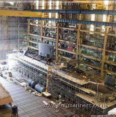 Upholder inside Devonshire Dock Hall