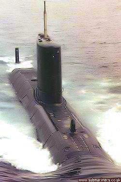 First of class HMS Upholder